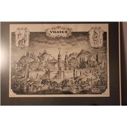 """SIGNED PRINT 1983 5 OF ONLY 20 FROM THE ESTATE OF MATTHEW ORANTE - 30.5"""" X 23"""