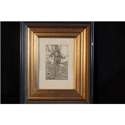 "INK DRAWING BY GERMAN ARTIST DURER FROM MATTHEW ORANTE'S ESTATE - 8"" X 10"""