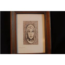"""INK DRAWING BY MATTHEW ORANTE - 1974 - 8.5"""" X 6.5"""""""