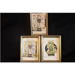 3 ORIGINAL LITHOGRAPHS BY ARTIST RIMANTAS DICHAVICIUS