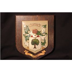 """LITHUANIA SHIELD 10"""" X 12"""" - PLAQUE MADE IN BRITAIN - SHIELD PAINTED BY MATTHEW ORANTE"""