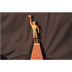 CARVED WOODEN BASKETBALL FIGURE BY MATTHEW ORANTE - 1940