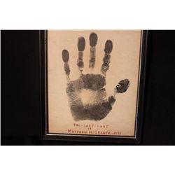 LEFT HAND OG MATTHEW ORANTE'S FATHER & VIOLINIST MATTHEW ORANTE III