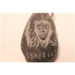 STONE CARVING 1974 BY MATTHEW ORANTE OF WIFE ISABELLE - NECKLACE