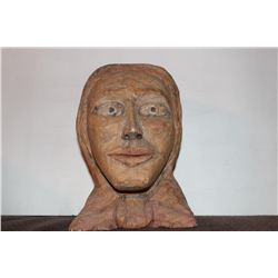 """GREAT WOOD CARVING BY ARTIST MATTHEW ORANTE 1988 - 8"""" TALL"""