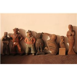 7 CARVED FIGURES BY MATTHEW ORANTE