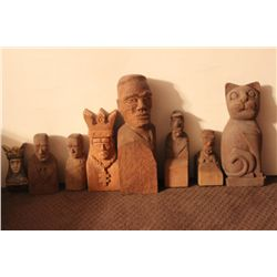 8 CARVED FIGURES BY MATTHEW ORANTE