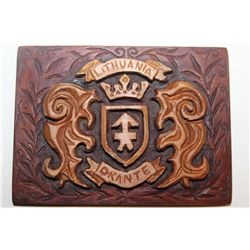 THE LAST CHANCE FOR A MATTHEW ORANTE BELT BUCKLE W/ LITHUANIAN SHIELD