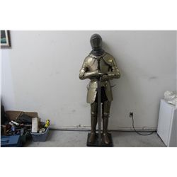 KNIGHT IN SHINING ARMOR FROM MATTHEW ORANTE ESTATE - NEED SOME LEATHER REPAIR - WHAT A GREAT FIND -
