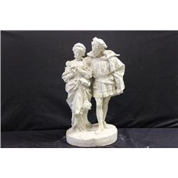 GREAT PLASTER SCULPTURE FROM MATTHEW ORANTE ESTATE - LADY NEEDS HAND REPAIR - 25 INCHES TALL - BASE