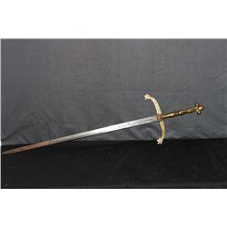 """49"""" SWORD ENGRAVED LITHUANIA-ORANTE"""
