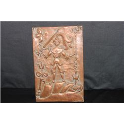 FROM MATTHEW ORANTE'S LITHUANIAN ESTATE - WARRIOR 1969 - DONE ON COPPER