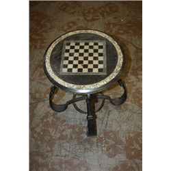 MARBLE CHESS BOARD WITH IRON BASE