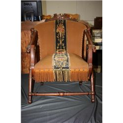 SIGNED HUNZINGER WALNUT FOLDING CHAIR