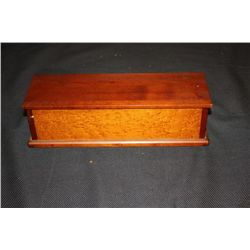 LADIES GLOVE BOX - MAHOGANY & BIRDSEYE