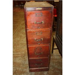 4 DRAWER MAHOGANY FILE BY WAGEMAKER