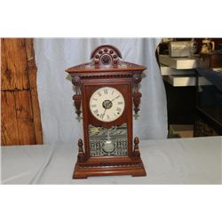 SETH THOMAS VICTORIAN SHELF CLOCK WALNUT