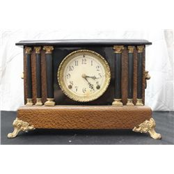 "EXCELLENT MANTLE CLOCK - 11"" TALL - 15"" WIDE"