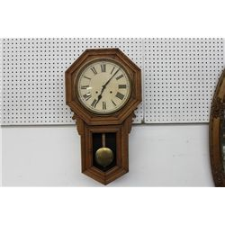 WALL HANGING OAK ANSONIA CLOCK