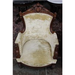 VICTORIAN LADIES WALNUT CHAIR