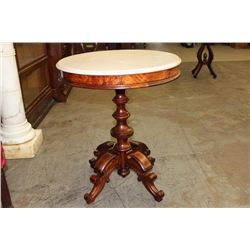 """MARBLE TOP STAND - 24"""" ROUND - BROOKS"""