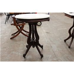 OVAL MARBLE TOP STAND