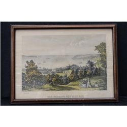 THE NARROWS NEW YORK BAY BY CURRIER & IVES