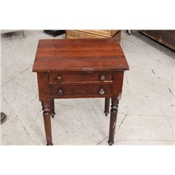 EARLY 2 DRAWER CHERRY STAND