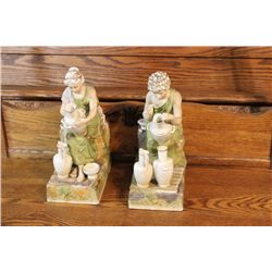 MATCHING PAIR OF PORCELAIN STATUES BY SYLVAN