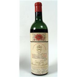 1956 Chateau Mouton Rothschild French Wine Bottle