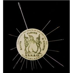 S.S.H. & Co. Elves Antique Celluloid Pin Mirror 1902