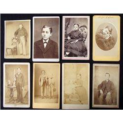 8 Antique CDV Portrait Photos Children Boys, Girls