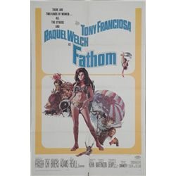 Fathom Movie Poster 1967 Raquel Welch
