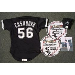 Chicago White Sox Lot - Game Worn Casanova Jersey Hat