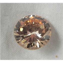5.88 Ct. Natural Zircon Champagne Round Gemstone