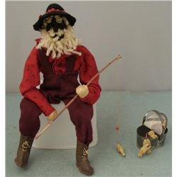 Geraldine Chandler Vintage Black Fisherman Doll Mexico