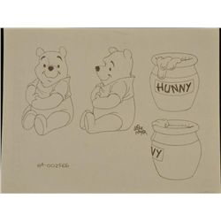 Winnie Pooh Orig Mike Royer Signed Production Drawing