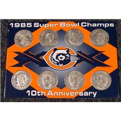 Bears Super Bowl Champions 10th Anniversary Coin Set