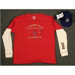 Milwaukee Bucks 5950 New Era Hat Basketball Club Shirt