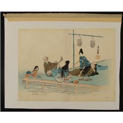 Harada Keigaku Original Japanese Art Print Summers Eve