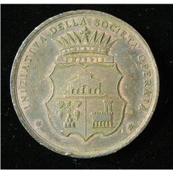 Italian Medal Company Worker Empoli Prison 1882