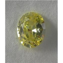 4.3 Ct. Natural Zircon Yellow Oval Gemstone