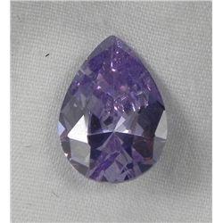 5.56 Ct. Natural Zircon Light Purple Pear Gemstone