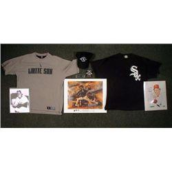 White Sox Signed Caricature Wood & Minoso Photo Shirts