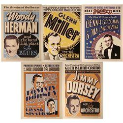 5 Old Jazz Concert Repro Posters Sinatra Dorsey Herman