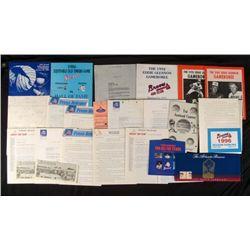 Vintage Atlanta Braves Lot- Press Releases Pamphlets