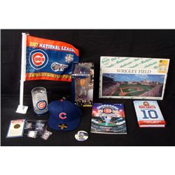 Chicago Cubs Lot- Mug Pins Bobble Head Book Hat Photo
