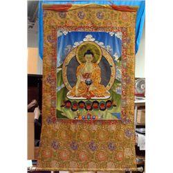 Buddhist Silk Layered Scroll Wall Hanging Tapestry