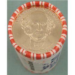 1 Roll (25) 2008-D Martin Van Buren Presidential Dollar
