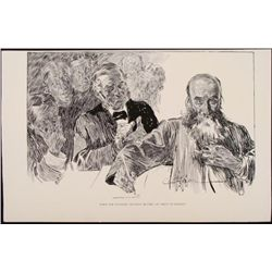Charles Gibson Orig Book Print 1896 Eccentric Relative